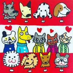 Dokonoko Tokyony犬猫イラスト